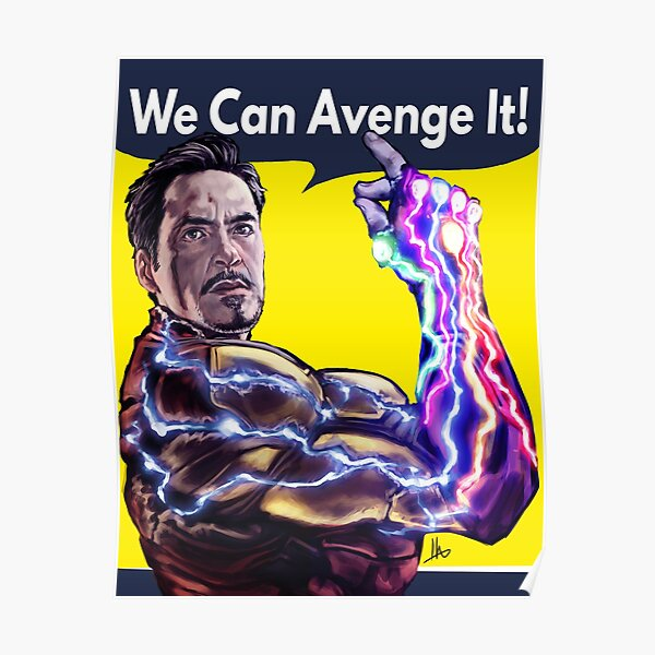 Download Tony Stark Posters | Redbubble