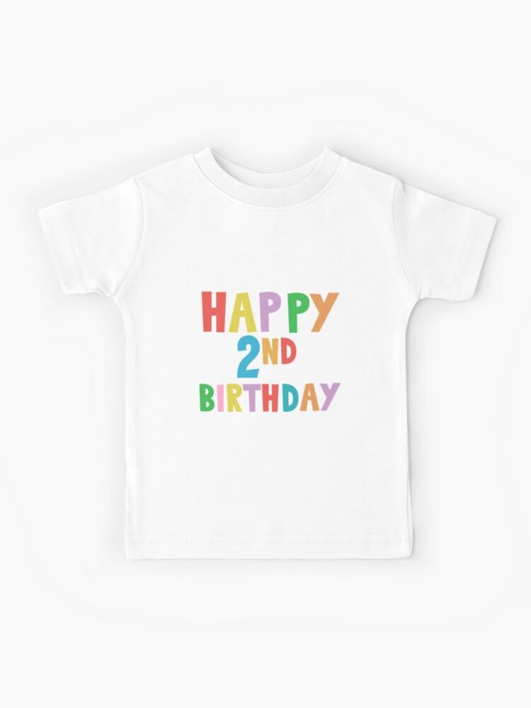 Alles Gute Zum 2 Geburtstag Alles Gute Zum 2 Geburtstag Fur Jungen Und Madchen Kinder T Shirt Von Marosharaf Redbubble