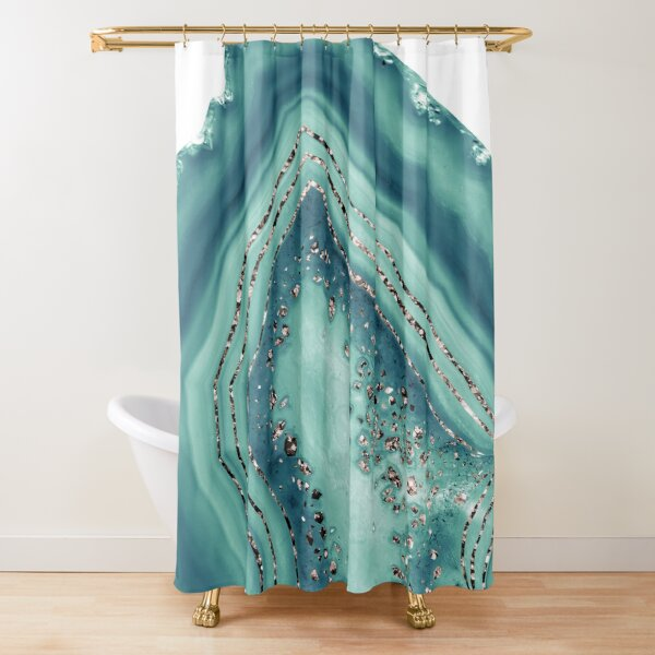 crystal shower curtains redbubble