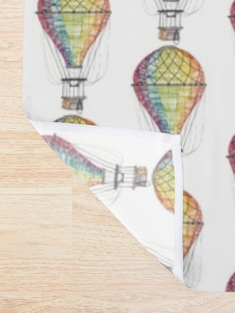 vintage hot air balloon shower curtain by meher shiblee redbubble