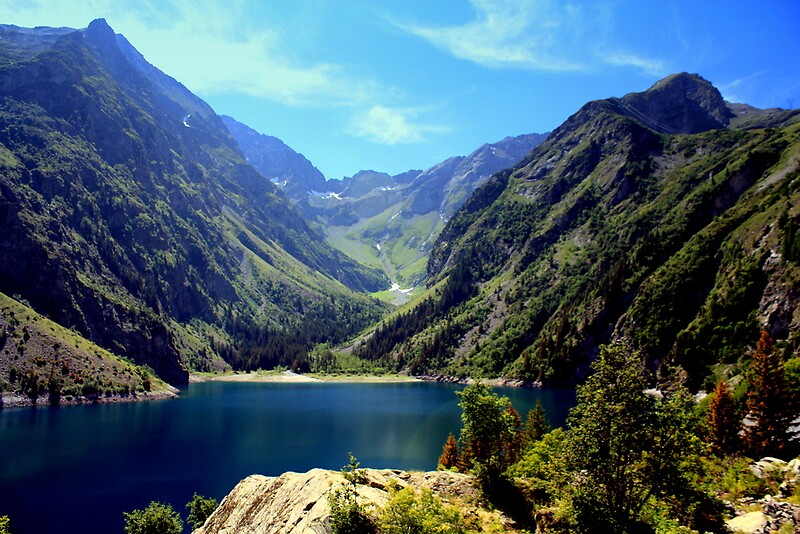 Lac Lauvitel Ecrins National Park France By Robert Pettitt Redbubble
