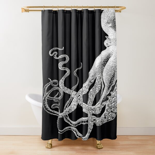 tentacle shower curtains redbubble