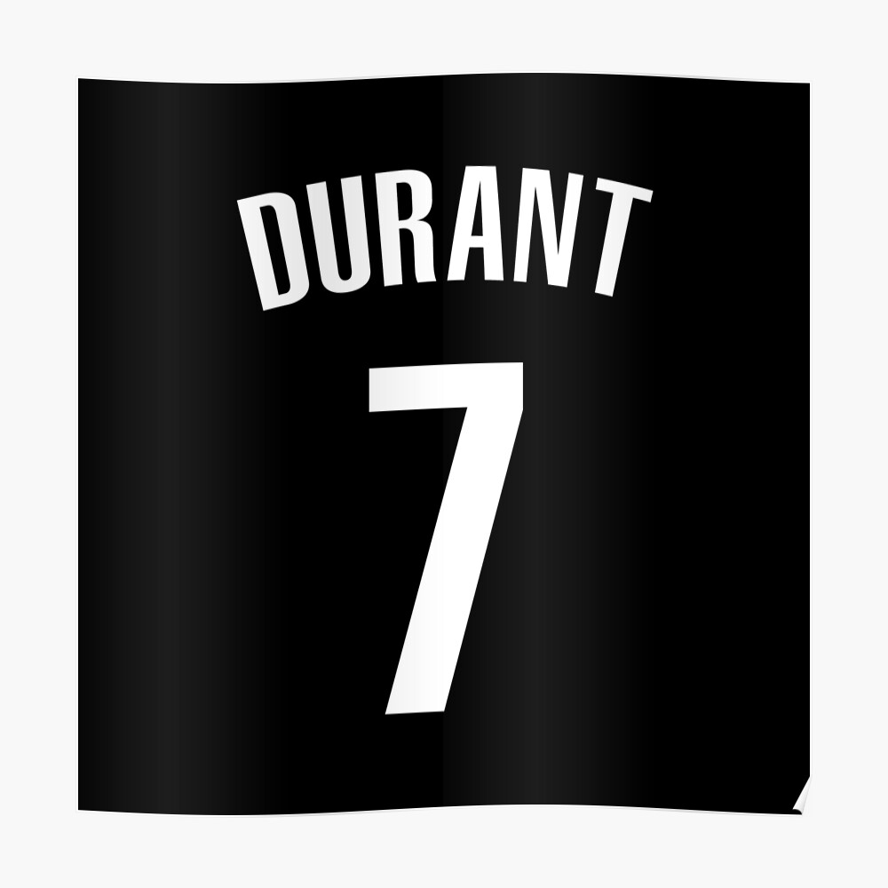 kevin durant nets poster by csmall96 redbubble