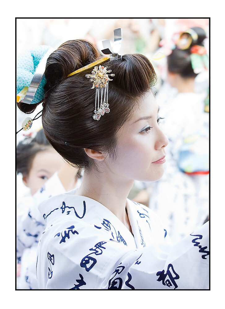 Traditional Japanese Hairstyle By Adygarden Redbubble