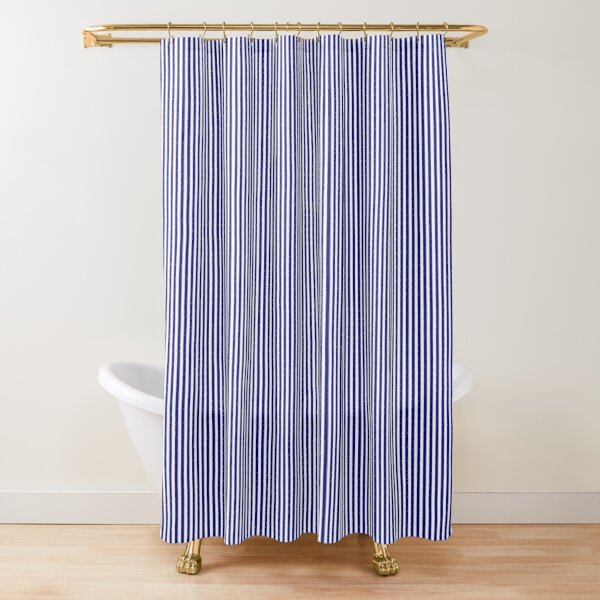 thin pinstripes shower curtains redbubble