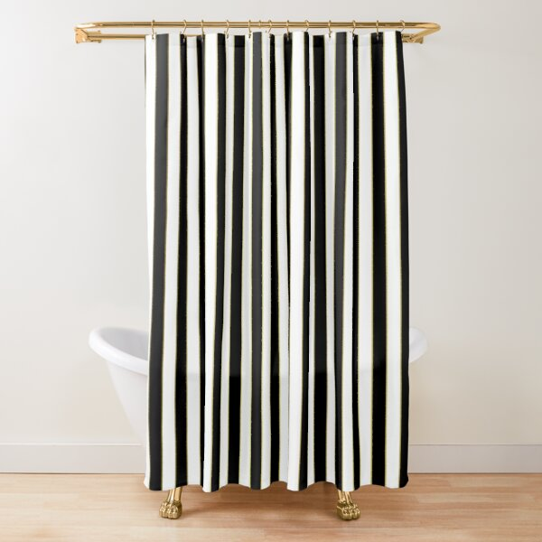 black striped shower curtains redbubble