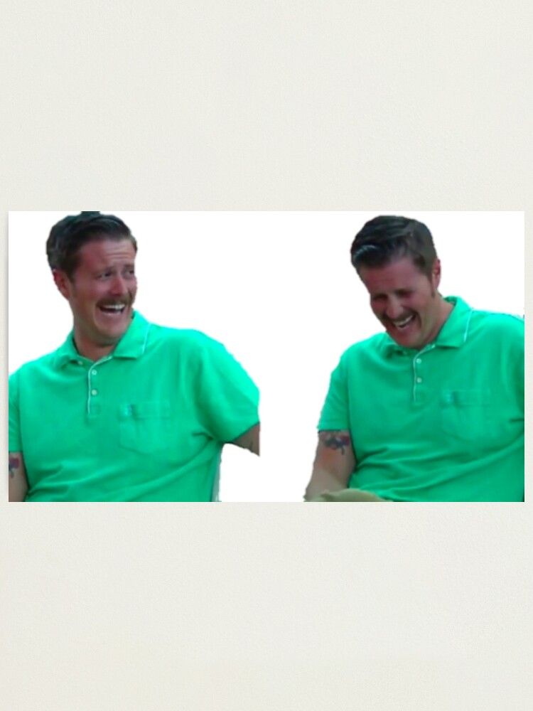 Laughing Green Shirt Guy Meme Reaction Image Photographic Print By Toxicstrydr Redbubble