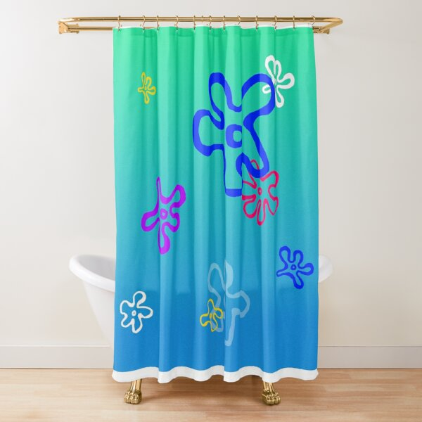 patrick star shower curtains redbubble