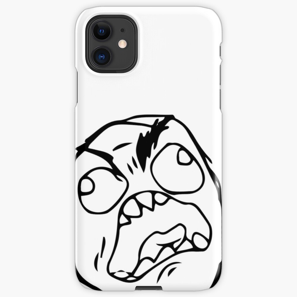Troll Face Meme Angry Mad Reaction Face Hd High Quality Iphone