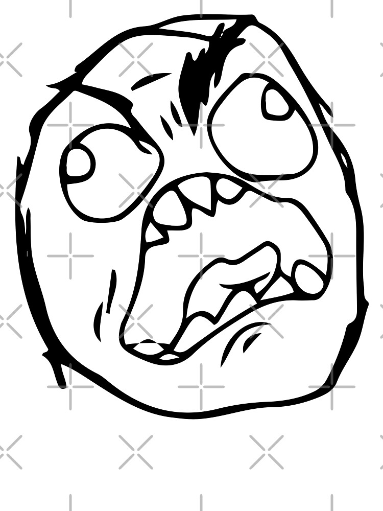 Troll Face Meme Angry Mad Reaction Face Hd High Quality Baby One