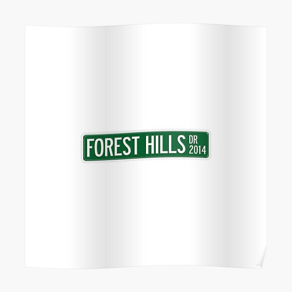 poster 2014 forest hills drive redbubble