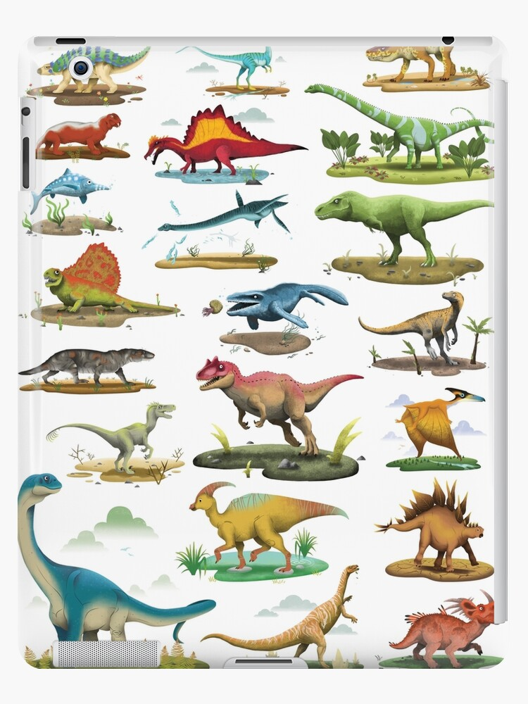 Dinosaur Poster For Kids Ipad Case Skin By Vicbradyart Redbubble
