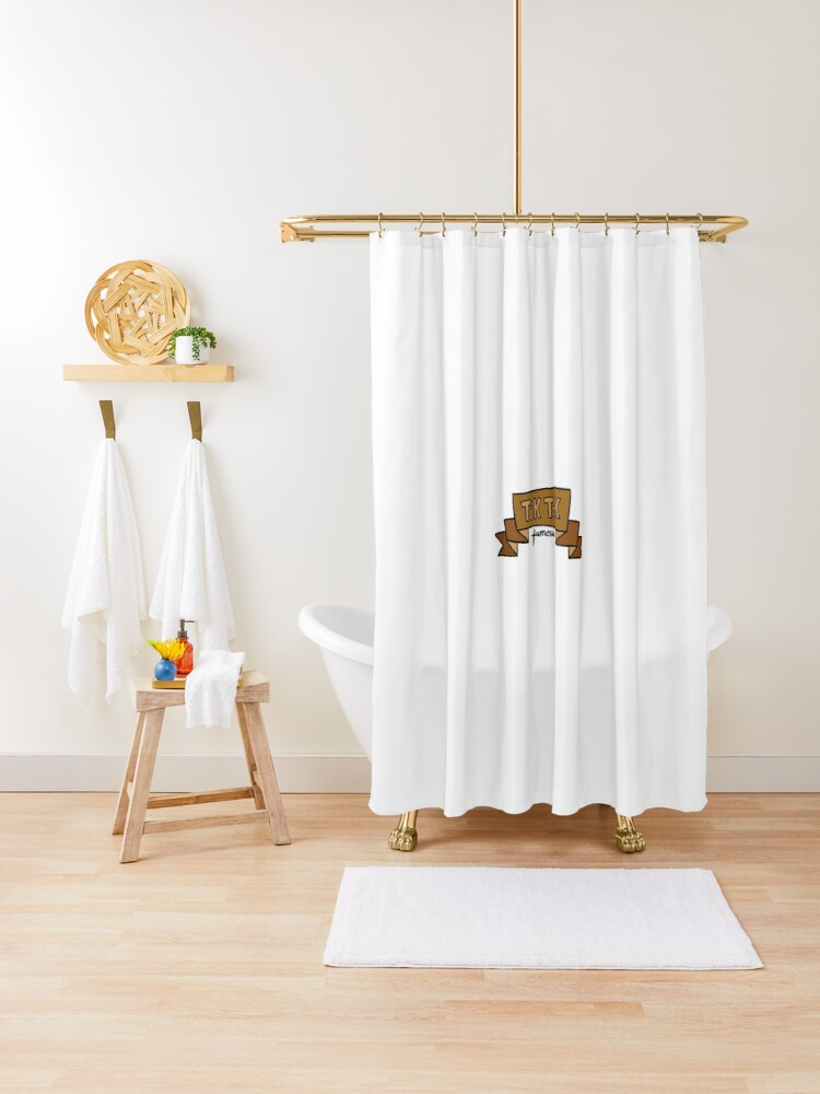 tik tok famous banner shower curtain by madcott redbubble