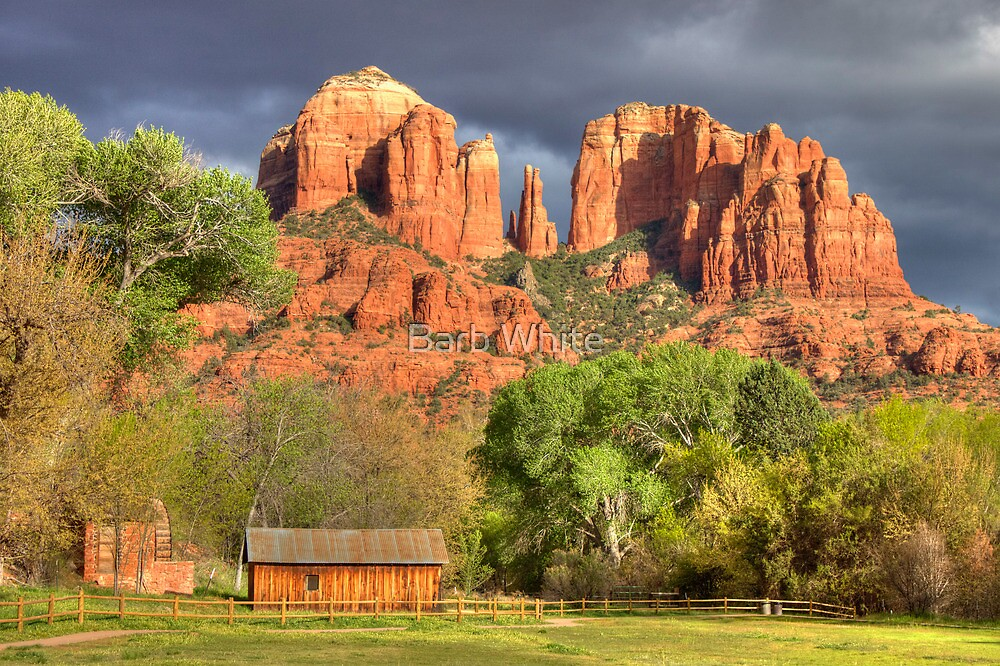 Cathedral Rock Sedona AZ HDR By Barb White Redbubble