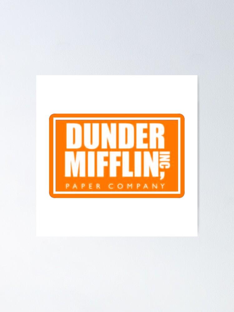 orange dunder mifflin logo poster von chickennugget2 redbubble