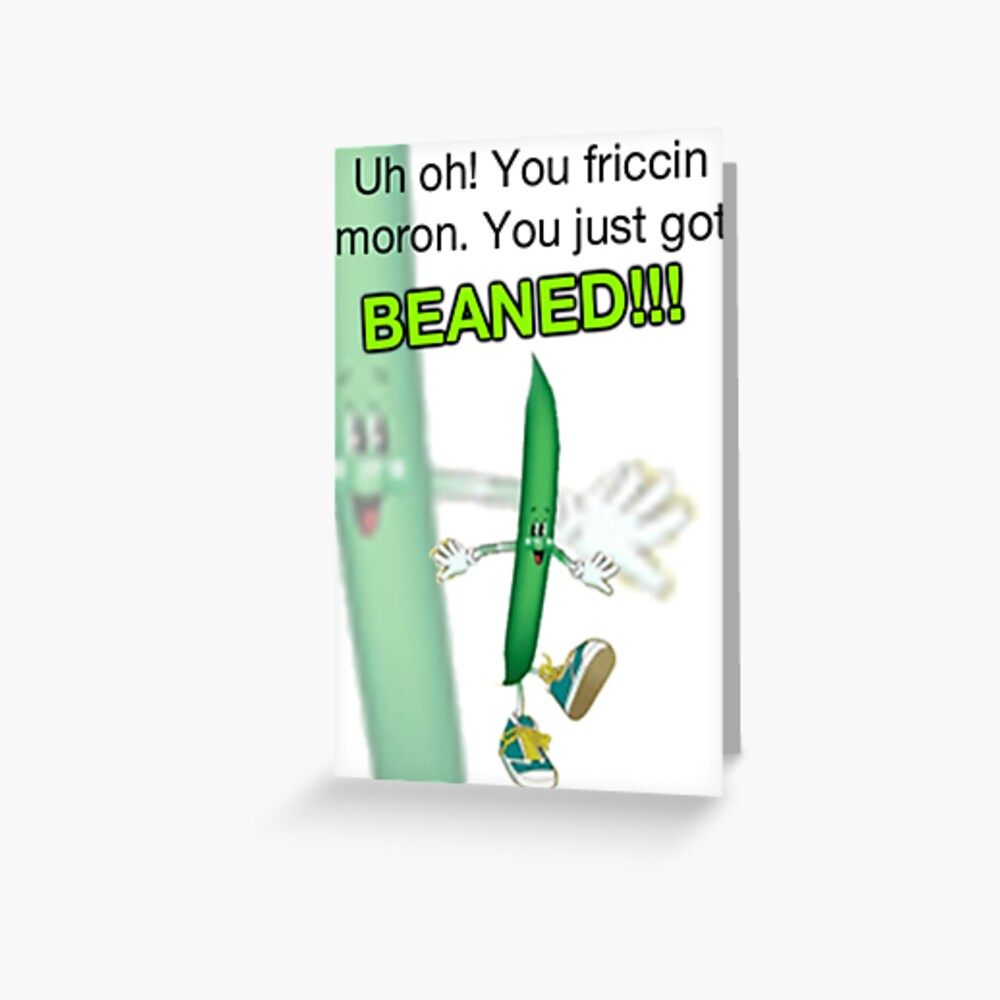 Beaned Greeting Card By Seryst Redbubble