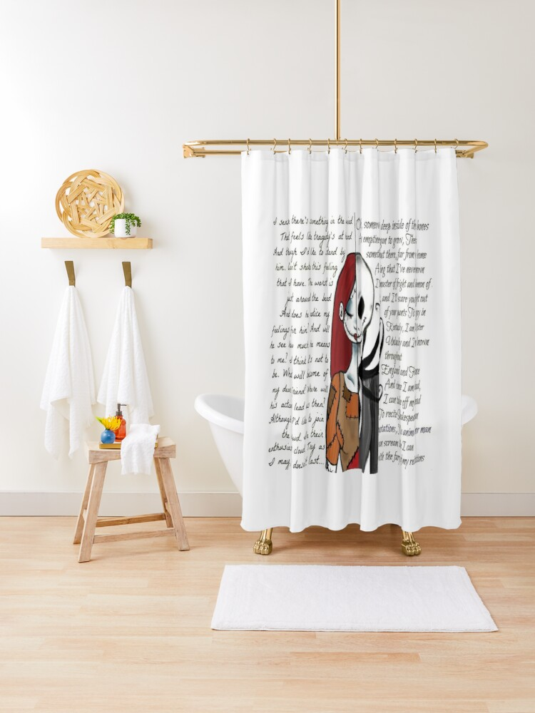 nightmare before christmas shower curtain by mominsminions redbubble