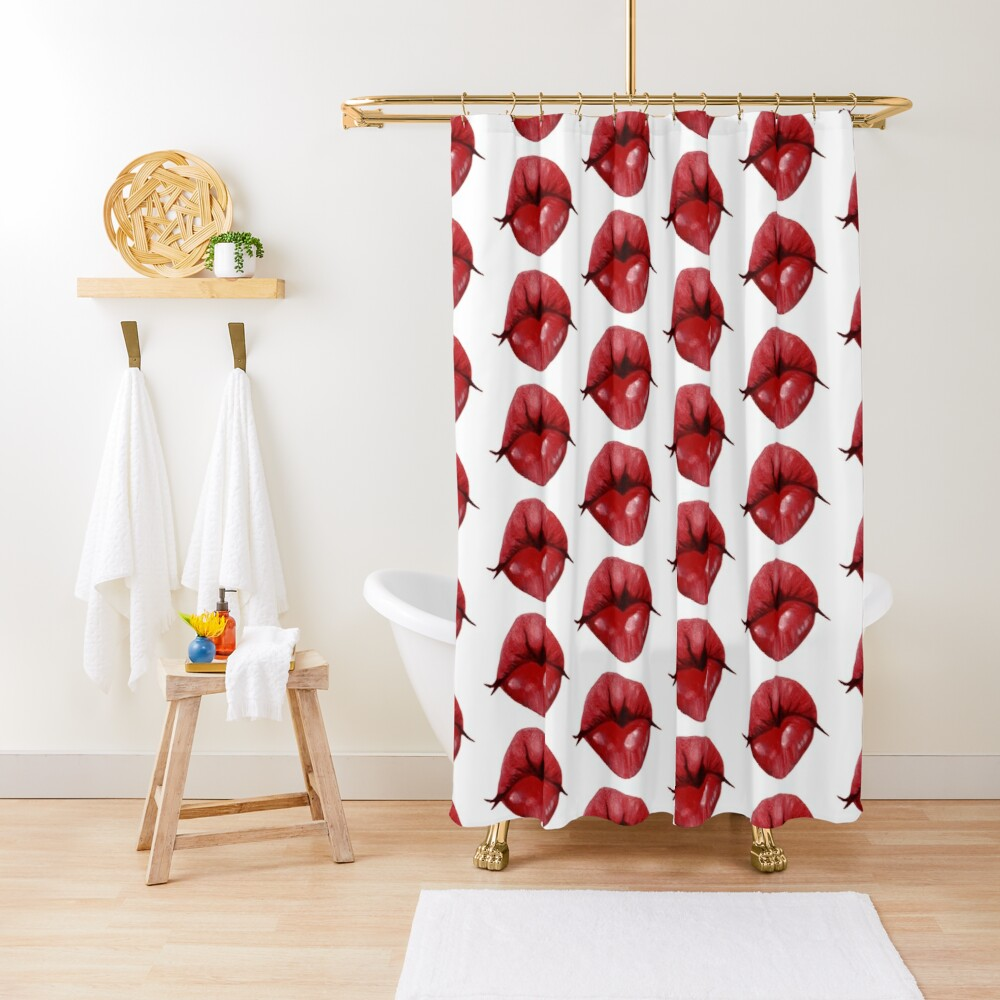 puckered lips donald trump shower curtain by denisestanley redbubble