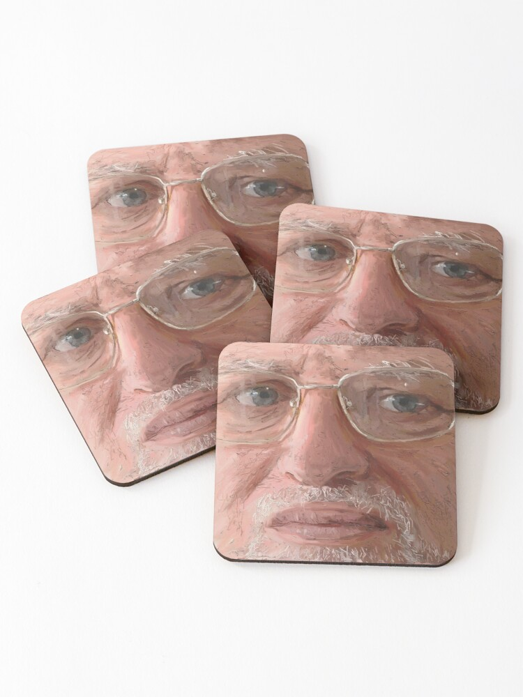 Realistic Portrait Don T Hide The Pain Harold Coasters Set Of