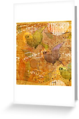 Greeting Card: song birds