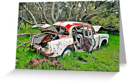Rusted Wreck ||, on Redbubble, by Stephen Mitchell