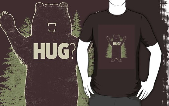 Bear Hug (Dark) T-Shirt  by Matthew Parsons