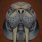 walrus totem art, lolrus, animal art, painting