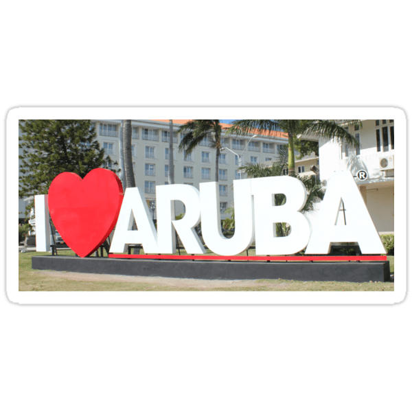 I love Aruba - One happy Island Stickers on Redbubble by Christine aka stine1