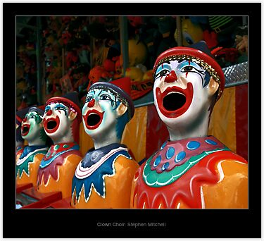 Clown Choir, by Stephen Mitchell, on Redbubble