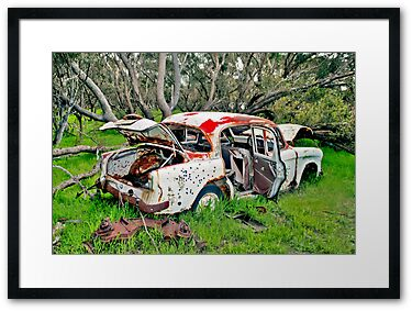 Rusted Wreck II, by Stephen Mitchell, on Redbubble