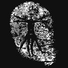 Vitruvian Man Fingerprint (Dark) by spaulfam