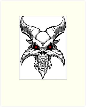 demon skull colouring pages page 2