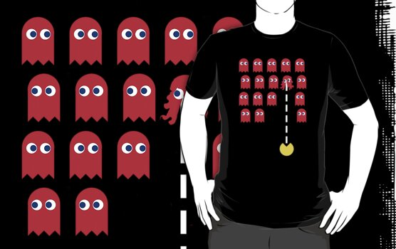 Pac Invaders, by Stephen Mitchell, on Redbubble