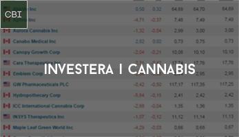 Investera i cannabis - Nuläget och en återblick