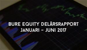 Bure Equity Delårsrapport Januari – juni 2017