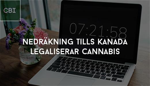 Nedräkning tills Kanada legaliserar cannabis