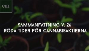 Röda tider för cannabisaktierna