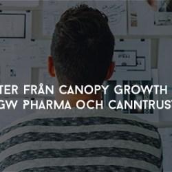 Nyheter från Canopy Growth Corp, GW Pharma och CannTrust