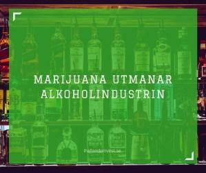 Marijuana utmanar alkoholindustrin