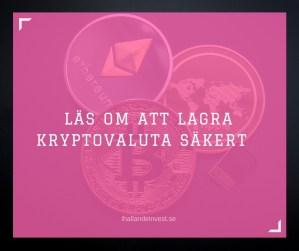 Lagra kryptovaluta säkert - not your key not your coins