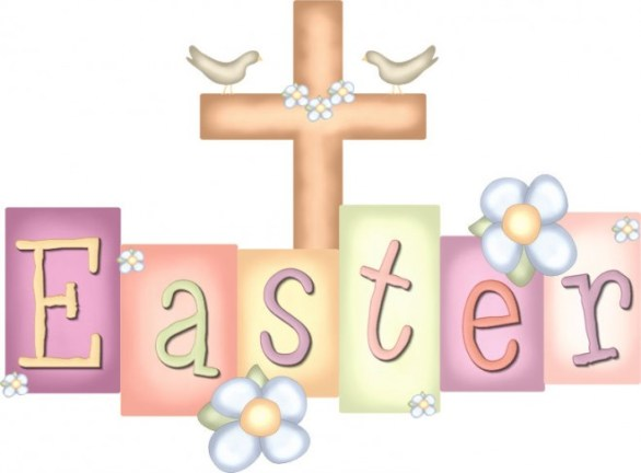 Christian Happy Easter Clip Art