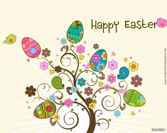 Happy Easter Clip art Eggs Tree Picture