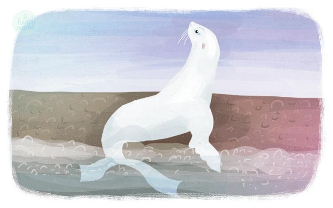 Сказка Белый котик