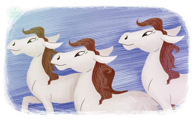 Песня Тройка (Три белых коня) из фильма «Чародеи»