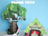 """Бумажные игрушки """"Лесные друзья"""" по макетам"""
