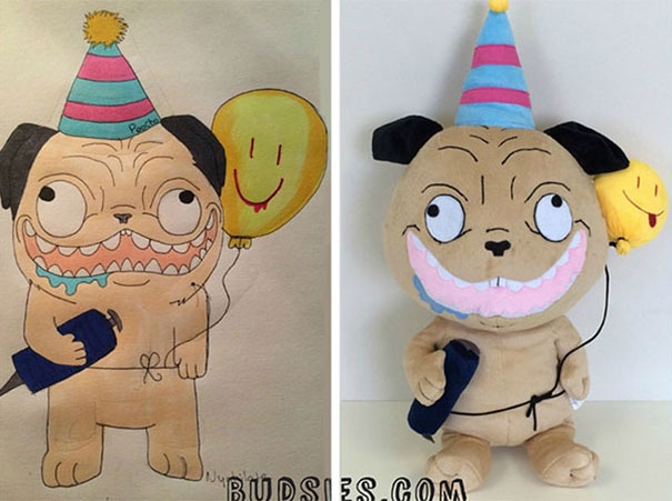 Чудеса! Детские рисунки превращаются в реальные плюшевые игрушки!