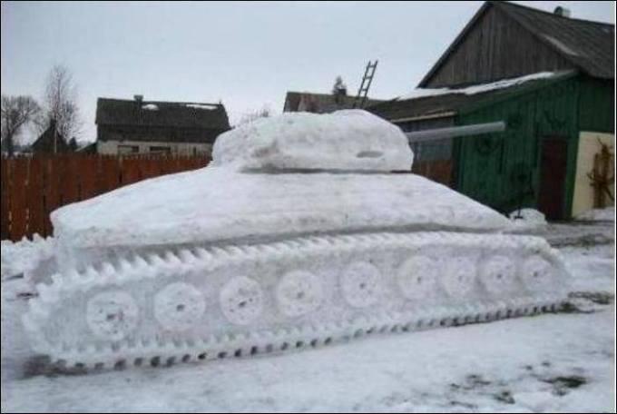 Zabavy zimnie tank