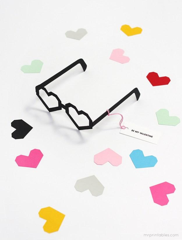 очки сердечки