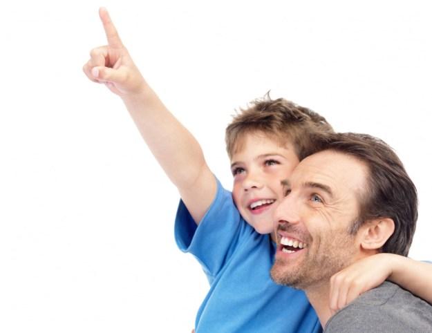 папа и ребенок