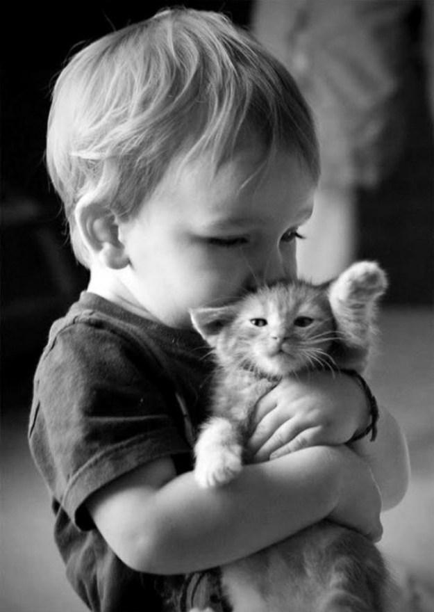 дружба детей с животными